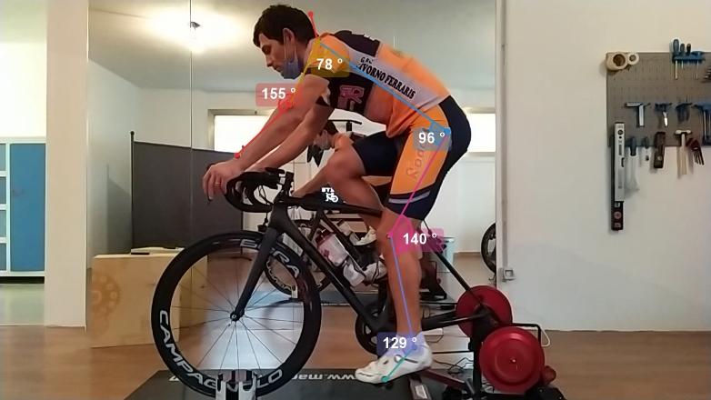 Controllo della posizione in bicicletta